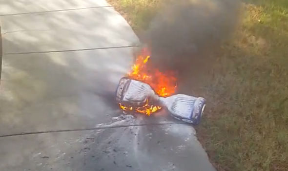 Hoverboard-battery-fire